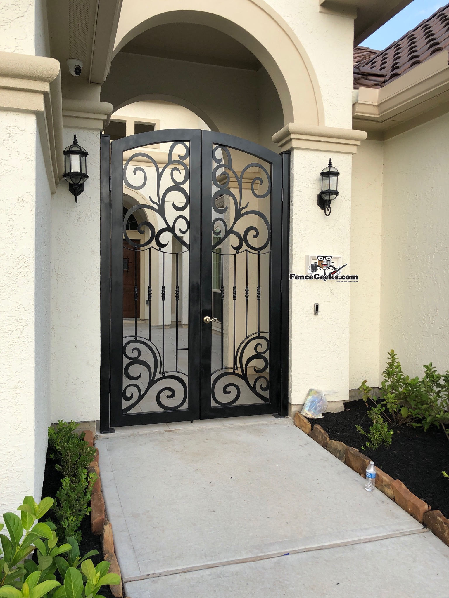 Front Door Enclosures Fence Geeks Wrought Iron Fences
